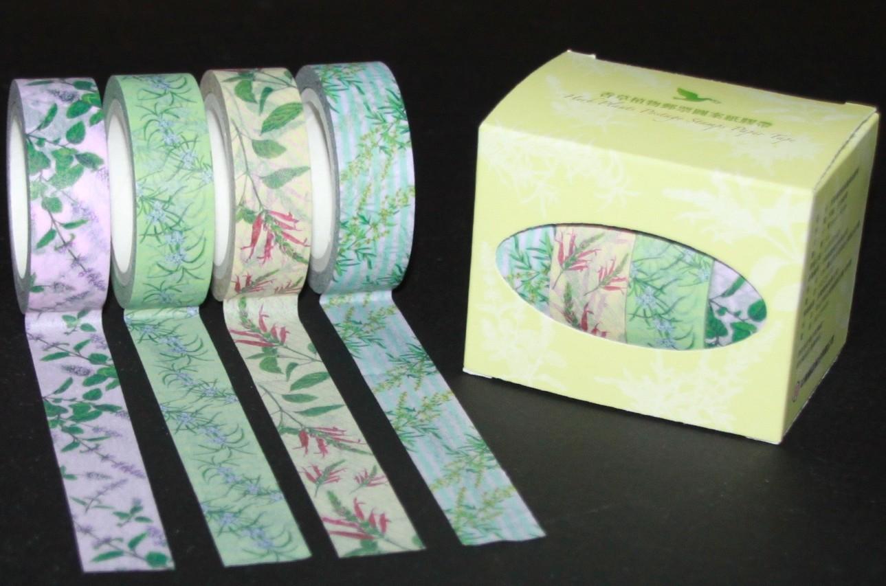 香草植物郵票圖案紙膠帶