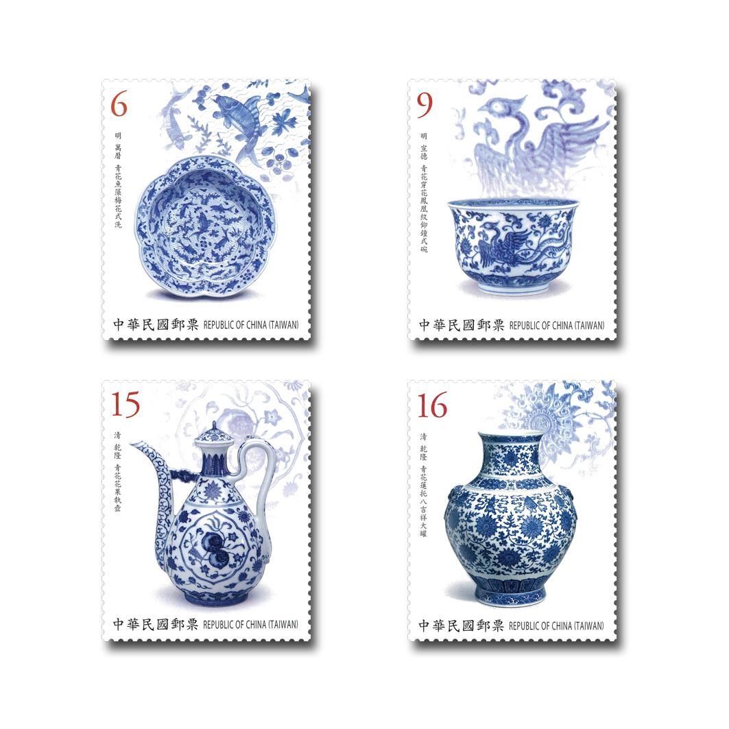 古物郵票 — 青花瓷(107年版)
