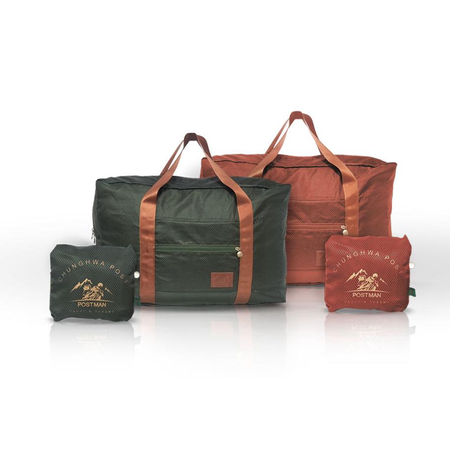 摺疊旅行袋-磚紅