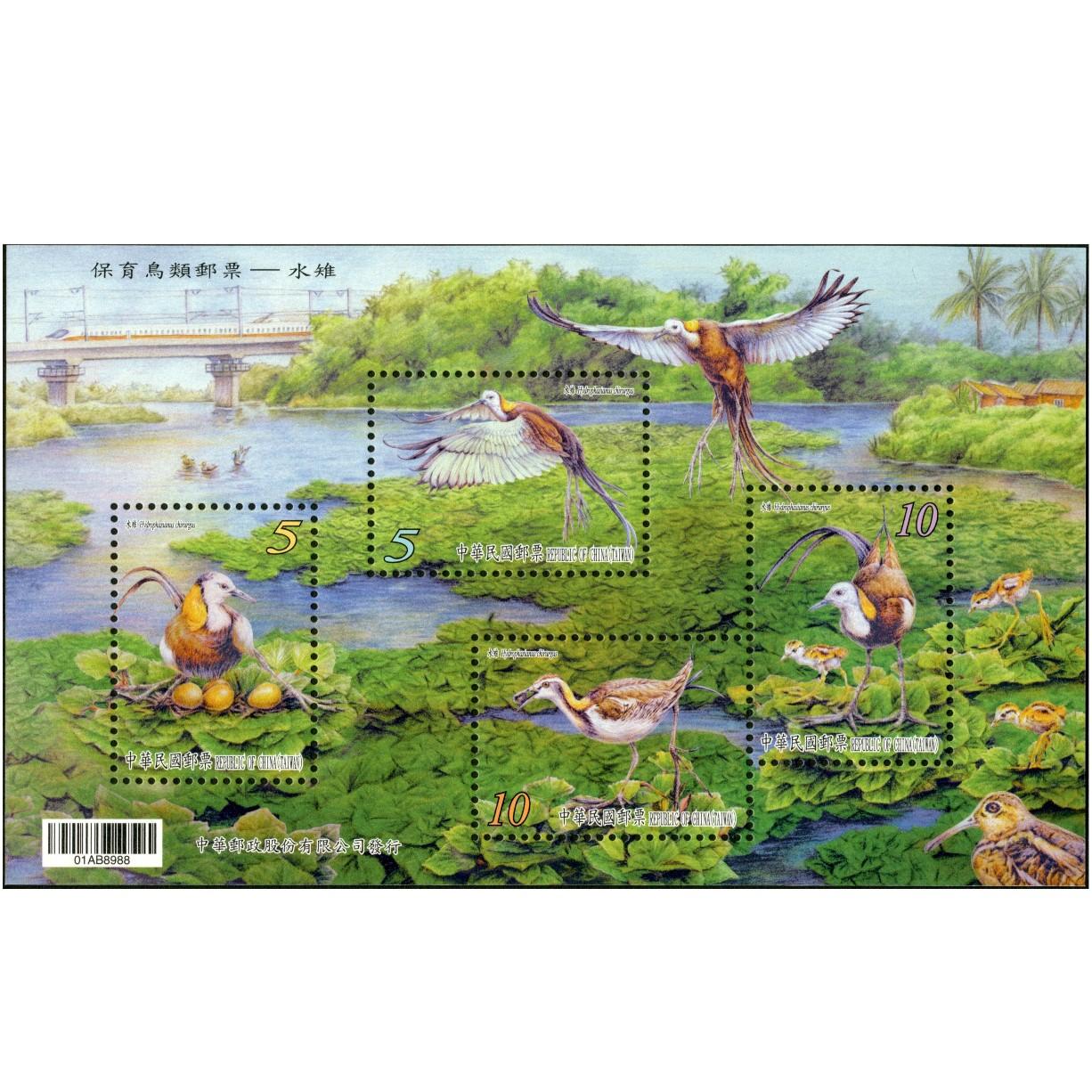 保育鳥類郵票小全張-水雉A款