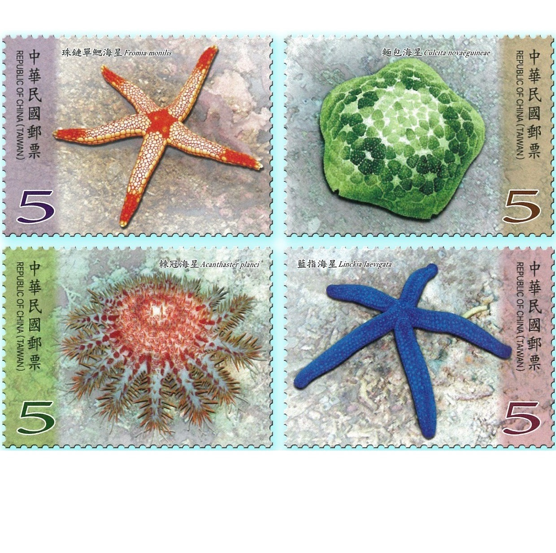 海洋生物郵票-海星